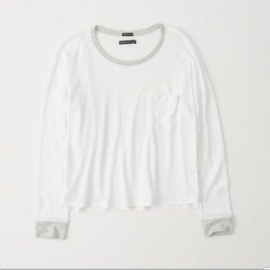 A&F Long-Sleeve Contrasting Tee